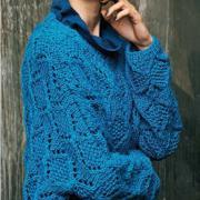 Как связать спицами безразмерный свитер с рельефным узором