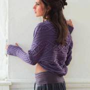 Как связать спицами болеро с крупным узором из кос