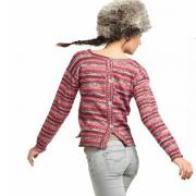 Как связать спицами джемпер с пуговками на спине