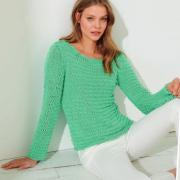 Как связать спицами классический приталенный пуловер