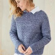 Как связать спицами классический пуловер с застежкой на спине