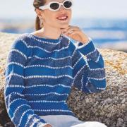 Как связать спицами классический свитер в полоску