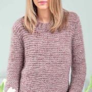 Как связать спицами мохеровый пуловер платочной вязкой