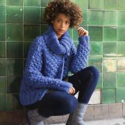 Как связать спицами объемный пуловер с персидским узором