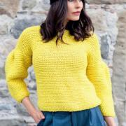 Как связать спицами оригинальный пуловер с объемными рукавами