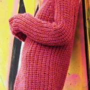Как связать спицами платье-пуловер свободного фасона