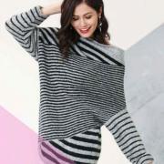 Как связать спицами полосатый пуловер с рукавом летучая мышь