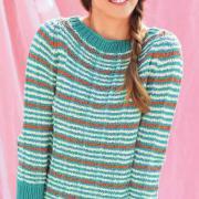 Как связать спицами полосатый свитер-реглан