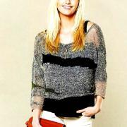 Как связать спицами полупрозрачный свободный пуловер