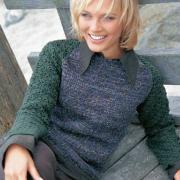 Как связать спицами пуловер с ажурными рукавами