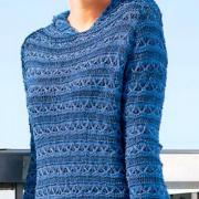 Как связать спицами пуловер с цветным рельефным узором