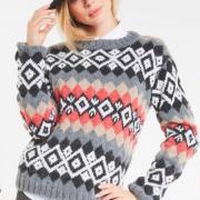 Как связать спицами пуловер с геометрическим рисунком