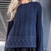 Как связать спицами пуловер крупной вязки с рельефным узором