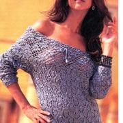 Как связать спицами пуловер с кружевной кокеткой