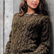 Как связать спицами пуловер с объемным фантазийным узором