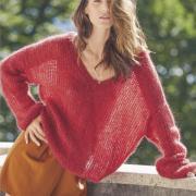 Как связать спицами пуловер оверсайз с v-образным вырезом