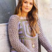 """Как связать спицами пуловер с шишечками в стиле """"пэчворк"""""""