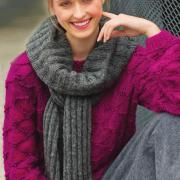 Как связать спицами пуловер со снятыми петлями и объемный шарф