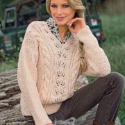 Как связать спицами пуловер с v-образным вырезом