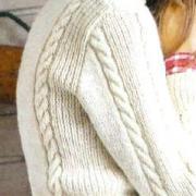 Как связать спицами пуловер с вертикальными косами