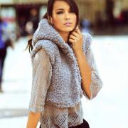 Как связать спицами пуловер и жилет с капюшоном