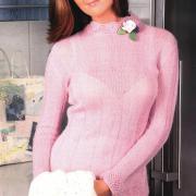 Как связать спицами розовый пуловер
