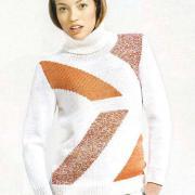Как связать спицами свитер с цветным рисунком