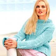 Как связать спицами свитер с косами или сотами