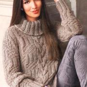 Как связать спицами свитер с косой в центре