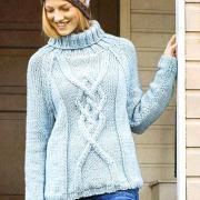 Как связать спицами свитер с крупным рельефным узором
