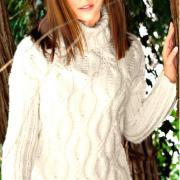 Как связать спицами свитер с крупными косами