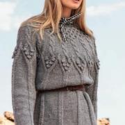 Как связать спицами свитер с крупными объемными косами