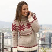 Как связать спицами свитер с норвежским узором