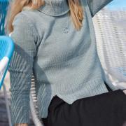 Как связать спицами свитер с разрезами снизу
