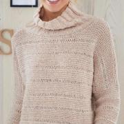 Как связать спицами свитер реглан с воротником «хомут»