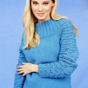 Как связать спицами свитер с воротником-кокеткой