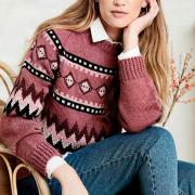 Как связать спицами свитер с зимним орнаментом