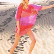 Как связать спицами свободный цветной пуловер