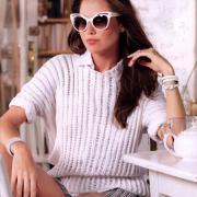 Как связать спицами свободный пуловер с полосатым узором