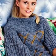 Как связать спицами свободный пуловер с широкими рукавами