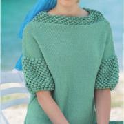 Как связать спицами свободный пуловер с шишечками