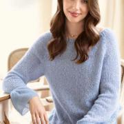 Как связать спицами свободный пуловер с воланами на рукавах