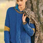 Как связать спицами свободный узорчатый пуловер с ромбами