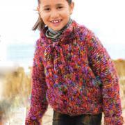 Как связать спицами теплый детский пуловер