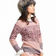 Как связать спицами теплый свитер с цветным рисунком