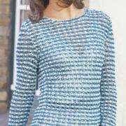 Как связать спицами удлиненный цветной пуловер