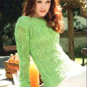 Как связать спицами удлиненный пуловер с ажурным узором