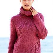 Как связать спицами удлиненный свитер из кос