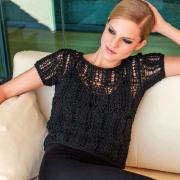 Как связать спицами укороченный ажурный пуловер