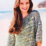 Как связать спицами укороченный меланжевый пуловер